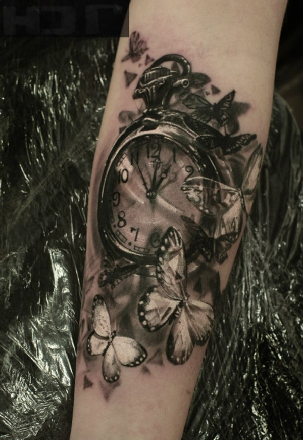 clock tattoo designs (58)