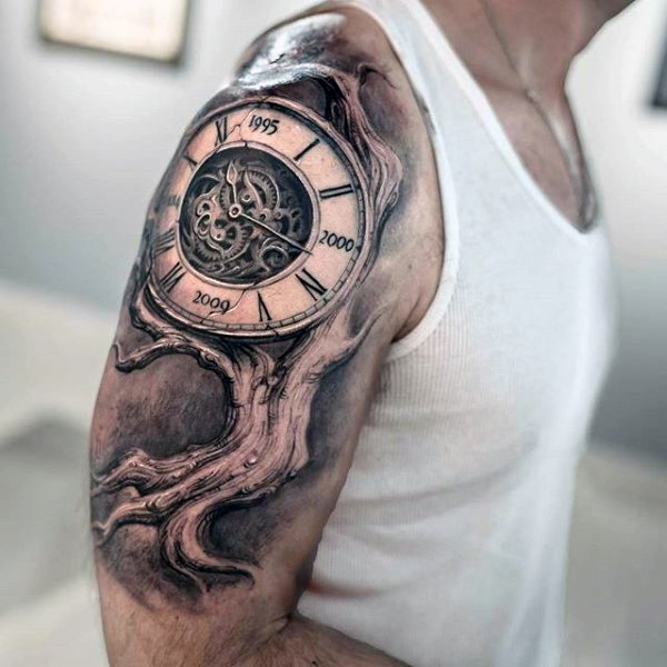 clock tattoo designs (62)