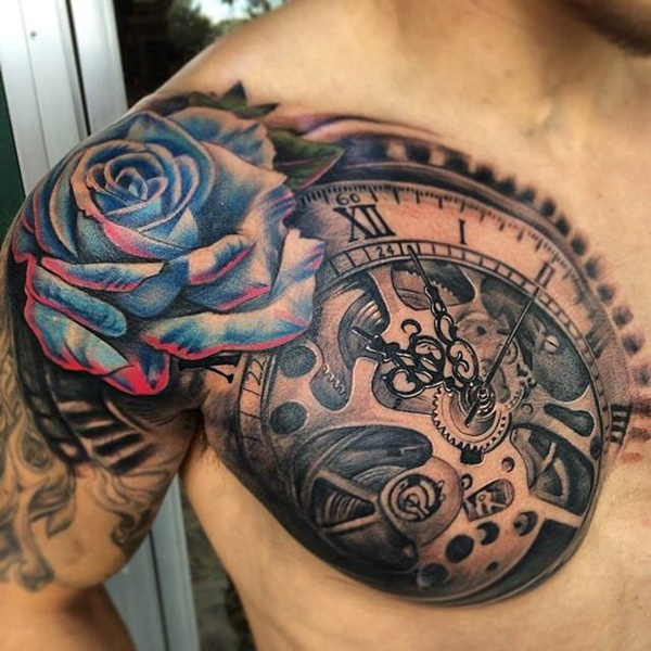clock tattoo designs (63)