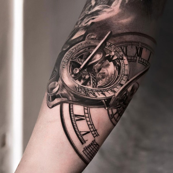 clock tattoo designs (65)