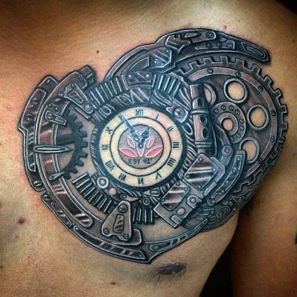 clock tattoo designs (8)