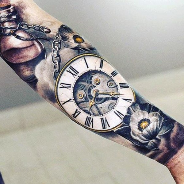 clock tattoo designs (81)