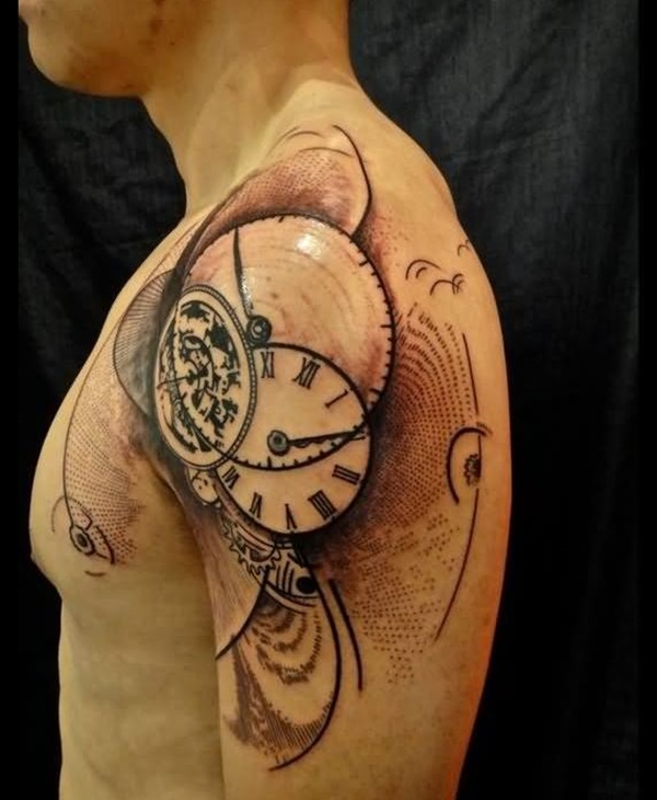 clock tattoo designs (90)