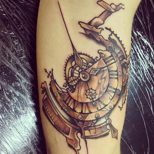 clock tattoo designs (96)