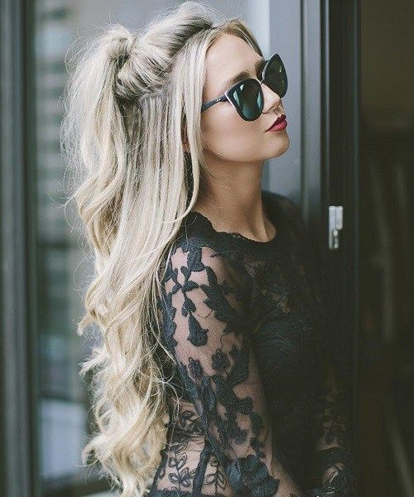 ponytail hairstyles for long hair (11)