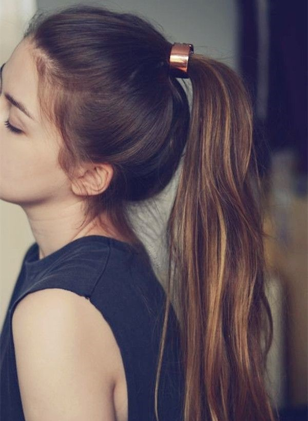 ponytail hairstyles for long hair (20)