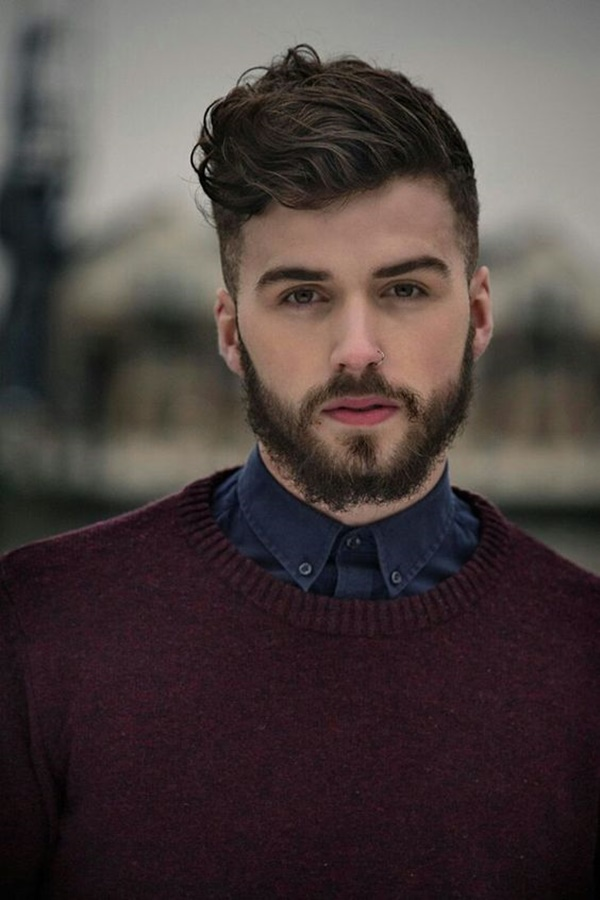 side swept hairstyle for men (12)